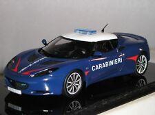 S2195 Spark Model Diecast Lotus Evora S Carabinieri 2011 Police Car 1:43 New UK