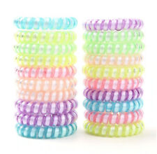 6 Fashion Spiral Shape Telephone Wire Cord Hair Accessories Bands Bracelet USA