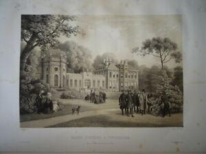 GRANDE LITHO SCENE ROI LOUIS PHILIPPE ORLEANS REINE VICTORIA ANGLETERRE 1846 D