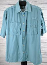 Lyndon & Co Vented Fishing Shirt Men's Sz Large Khaki Green (p)