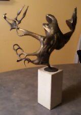 Bronze Sculpture by Clyde Ball Surrealist Brutalist Art