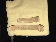 Auth Louis Vuitton Pink Crocodile Alligator Exotic Leather Watch Strap Small Lad