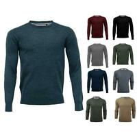 Shelikes Mens Round Neck Soft Knitted Crew Premium Blend Stylish Knit Fit Jumper