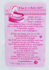 What Is A Baby Girl Wallet Keepsake Card New Child Christening Shower Gift Token