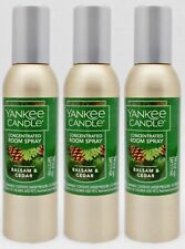 3 Yankee Candle BALSAM & CEDAR Concentrated Mini Room Spray Perfume 1.5 oz