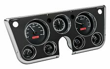 67-72 Chevy C10 Dakota Digital Black Alloy / Red VHX Analog Clock Gauge Kit