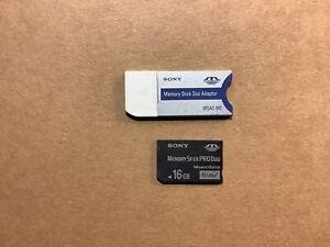 Sony Memory Stick PRO Duo 16gb Magic Gate + Adapter MSAC-M2