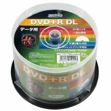 50 Hi-Disc DVD+R DL 8.5GB 8x Speed Dual Layer DVD Discs Inkjet P JAPAN Import