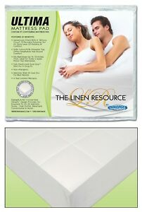 The Linen Resource Ultima Convertible Waterbed Mattress Pad  Queen or King