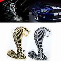 Per Ford Mustang Cobra Snake Shelby Metal Grill Logo Emblem Badge Chrome