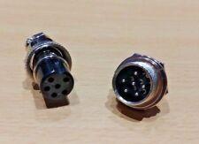 6 Pin GX16 16mm Aviation / Automotive Connector Female Socket Male Plug