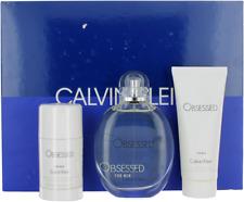 Obsessed By Calvin Klein For Men Set: EDT + Deo Stick + Shower Gel Shopworn New