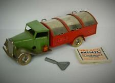 TRI-ANG MINIC VINTAGE 1937 RARE TINPLATE CLOCKWORK 32M DUST CART KEY & LEAFLET