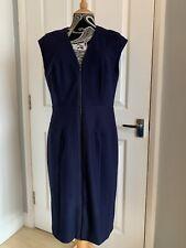 Phase Eight Bonnie Zip Up Navy Bodycon Dress, Size 16, NWT