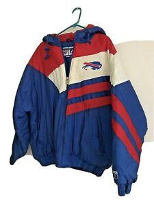 Logo 7 Game Day NFL Buffalo Bills Zipper Puffy Hooded Jacket Size: Large 1995