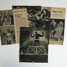 Vintage Magazine Article Original King Kong Movie Clippings