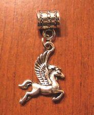 pendentif argenté cheval ailé pégase 23x17 mm