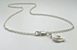 Sterling Silver Anklet, Ankle Bracelet with Angel Wing Charm on Belcher Chain