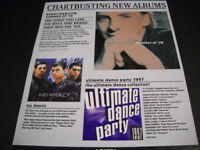 BARRY MANILOW and NO MERCY are CHARTBUSTING... 1996 Promo Display Ad mint cond