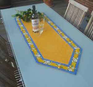 Table Runner Jacquard Matellase 50x150 CM Pointed Yellow With Lemon from France