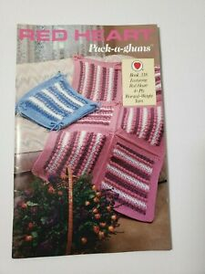 PACK-A-GHANS • 1988 • 7 Afghan Crochet Patterns • RED HEART Book No.338
