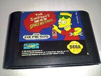 The Simpsons: Bart vs. the Space Mutants Sega Genesis Game Cartridge *NTSC-U*