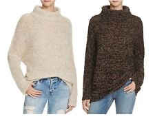 FREE PEOPLE Women She's All That Turtleneck Knitted Pullover Sweater Jumper Top