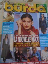 MAGAZINE BURDALE VIVE LA SAISON D'AUTOMNE LA NOUVELLE MODE AOUT  1998