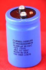 Cornell Dubilier DCM333U030BB2B electrolytic capacitor 33000 uf 30 VDC Condenser