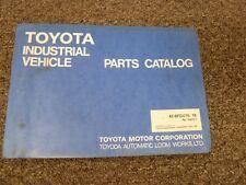 Toyota 42 6fgu15 Amp 42 6fgu18 Forklift Lift Truck Parts Catalog Manual