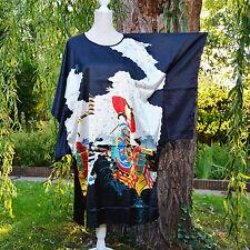Déshabillé chemise de nuit caftan taille unique 38 ↔️ 50 noir Chinois ZAZA2CATS