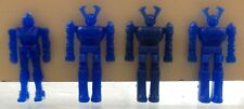 VHTF EXOGINI VTG GREEK LUCKY CUP GIFT LOT OF 4 BLUE SPACE ROBOTS FIGURES