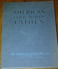 Vintage Antique Advertising American Tool Room Lathes Cincinnati OH Brochure