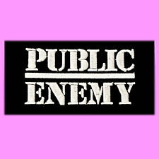 Public Enemy Logo Music Hip Hop Rock Jacket Clothing Iron On Embroidered Patch