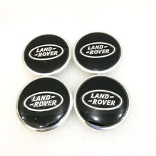 4x For Land Rover Range Wheel Center Hub Caps Black Logo Emblem Badge 63MM 2.5''