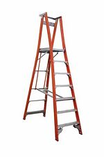 INDALEX Pro Series Fibreglass Platform Ladder 10ft/7ft 3.0m/2.1m
