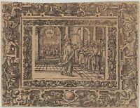 Mercur Statue von Konstantin Dausch Mercurius Römischer Gott Holzstich E 13287