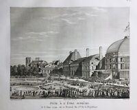 Fête de l'être Suprême 1794 Robespierre Paris Tuileries Révolution Française