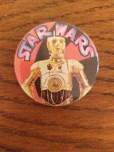Vintage Star Wars C-3P0 BADGE 1977 Pin UK Rare Original