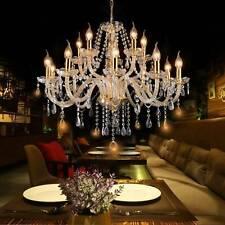 Elegant Crystal  Glass Chandelier Pendant Ceiling Lighting Fixture 6-15 Lights
