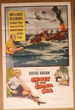 GHOST of the CHINA SEA ~ 1958 one sheet movie poster~DAVID BRIAN~Lynette Bernay