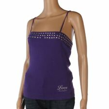 LOVE MOSCHINO Vest Top Purple Silver Stud Trim Size 40 / UK 8 FX 499