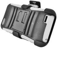Eagle Cell PRHTCONEVSPSTHLWHBK Hybrid Rugged TUFFSUIT with Kickstand for HTC One