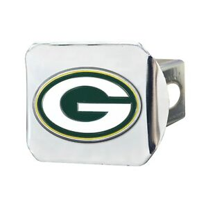 Fanmats NFL Green Bay Packers 3D Color on Chrome Metal Hitch Cover Del. 2-4 Days