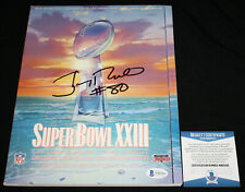 Jerry Rice signed Super Bowl XXIII Program, San Francisco 49ers, Beckett BAS
