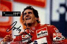 Ayrton Senna ++Autogramm++ ++FORMEL 1 Weltmeister++
