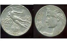 ITALIE  ITALY  20 centesimi  1912 R    ( bis )