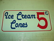 ICE CREAM CONES Sign Metel vintage soda fountain billiard game room kitchen golf