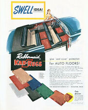 1952 Rubbermaid Kar-Rugs for Auto Floor Mats Wooster Rubber Co. PRINT AD
