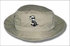 Felix The Cat Embroidered Tan Bucket Hat Cap L/XL New Official Licensed Planet